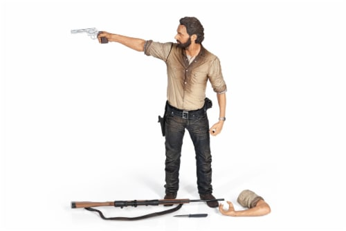The Walking Dead Rick Grimes Deluxe Poseable Figure | Measures 10 Inches Tall Perspective: back