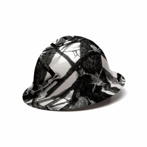 AcerPal 1TT1WH4M-AK1 Fish Bare Bones Hard Hat Helmet w/ 3 Pack Blue Sweatbands Perspective: back