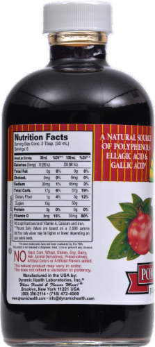 Dynamic Health Pomegranate Juice Concentrate Perspective: back