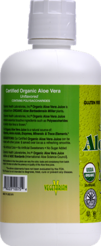 Dynamic Health Unflavored Organic Aloe Vera Juice Perspective: back