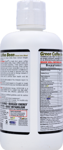 Dynamic Health Green Coffee Bean Juice Perspective: back