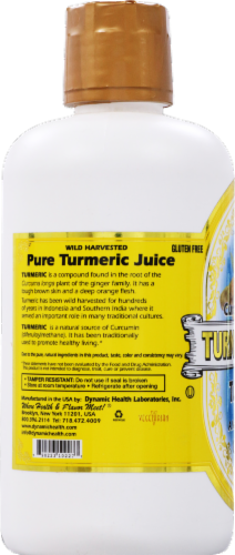 Dynamic Health Turmeric Gold Liquid Superfood Perspective: back