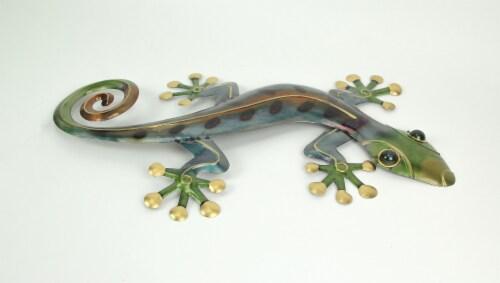 23 Inch Metal Gecko Sculpture Wall Hanging Art Home Decor Garden Decoration Perspective: back