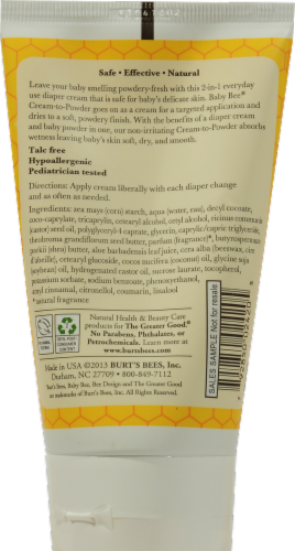 Burt's Bees Baby Bee Cream to Powder Perspective: back