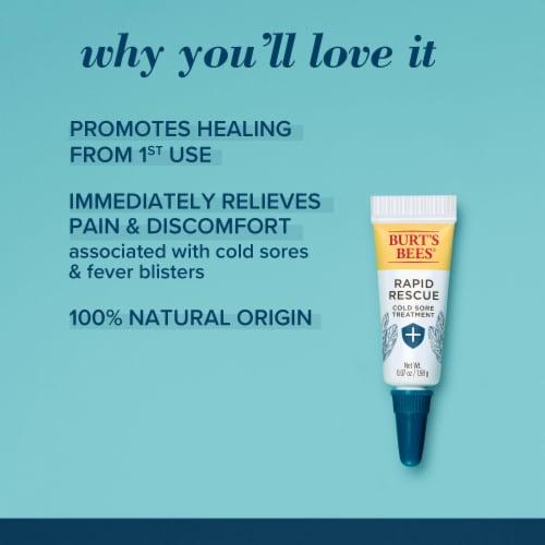 Burt's Bees Rapid Rescue Rhubarb & Sage Complex Cold Sore Treatment Perspective: back