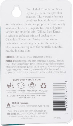 Burt's Bees Herbal Blemish Stick Perspective: back