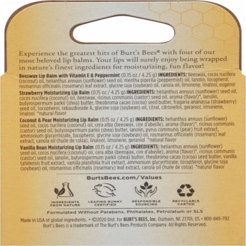 Burt's Bees Moisturizing Lip Balm Set Perspective: back