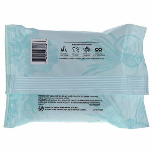 Micellar Makeup Removing Towelettes - Coconut and Lotus Water Perspective: back