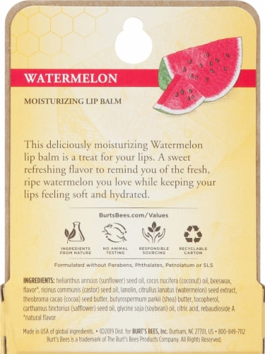 Burt's Bees Watermelon Moisturizing Lip Balm Perspective: back