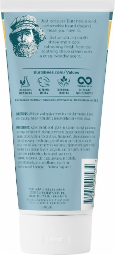 Burt's Bees For Men Cooling Shave Cream Perspective: back