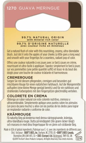 Burt's Bees Color Nurture Cream Blush - Guava Meringue Perspective: back