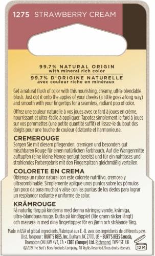 Burt's Bees Color Nurture Cream Blush - Strawberry Cream Perspective: back