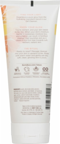 Burt's Bees Truly Glowing Gel Cleanser Perspective: back