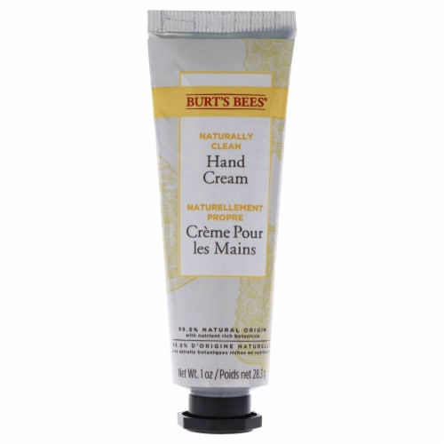 Burt's Bees Naturally Clean Hand Cream 1 oz Perspective: back