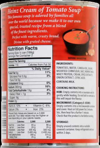 Heinz Cream of Tomato Soup Perspective: back
