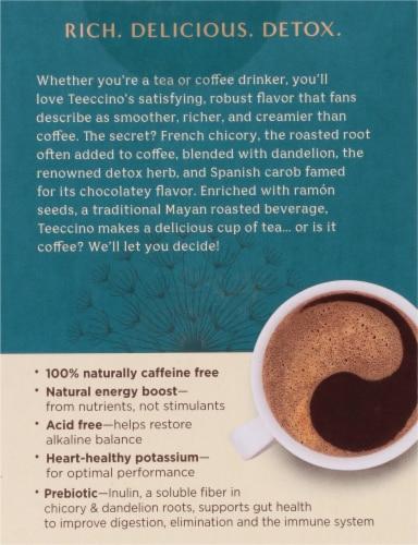 Teeccino Dandelion Dark Roast Herbal Tee Bags Perspective: back