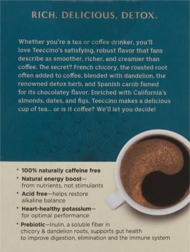 Teeccino® Dandelion Caramel Nut Tee Bags Perspective: back