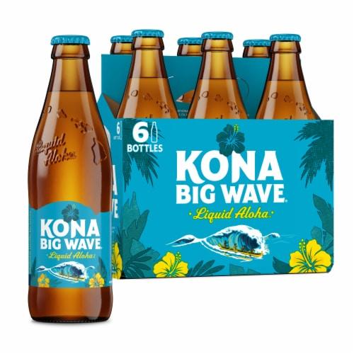 Kona Brewing Co. Big Wave Golden Ale Beer Perspective: back