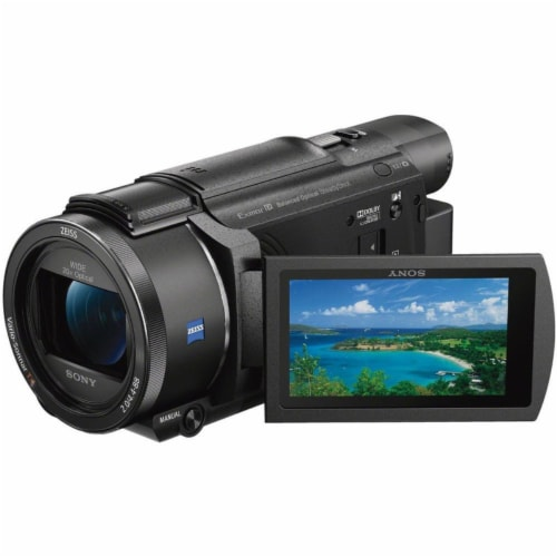 Sony Fdr-ax53 4k Ultra Hd Handycam 4k Ultra Hd Camcorder + Top Accessory Bundle Perspective: back
