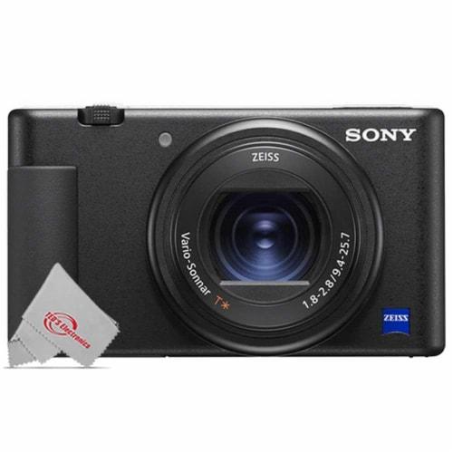 Sony Zv-1 20.1mp Digital Camera (black) + Wireless Shooting Grip + Accessory Kit Perspective: back