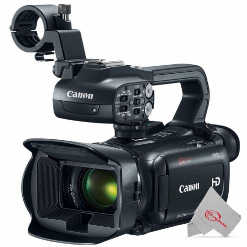 Canon Xa11 Compact Full Hd Professional Camcorder Us Version Ntsc Video + Top Accessory Kit Perspective: back