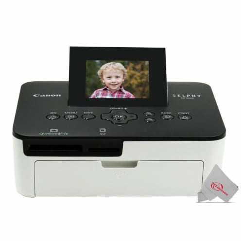 Canon Selphy CP1000 Compact Colored Photo Printer + 2pc Paper Set Accessory Kit Perspective: back