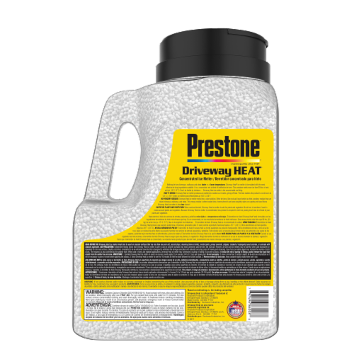 Prestone Driveway Heat Concentrated Ice Melter Pellets Perspective: back