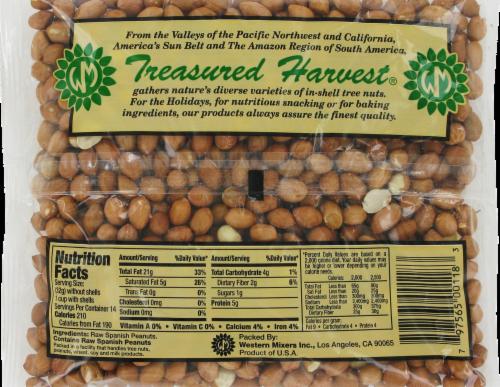 Treasured Harvest Raw Spanish Peanuts Perspective: back