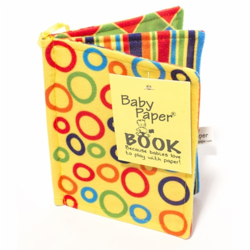 Baby Paper Vanilla Cupcake & Crinkle Book Gift Set - Baby Paper Crinkle Toys Perspective: back