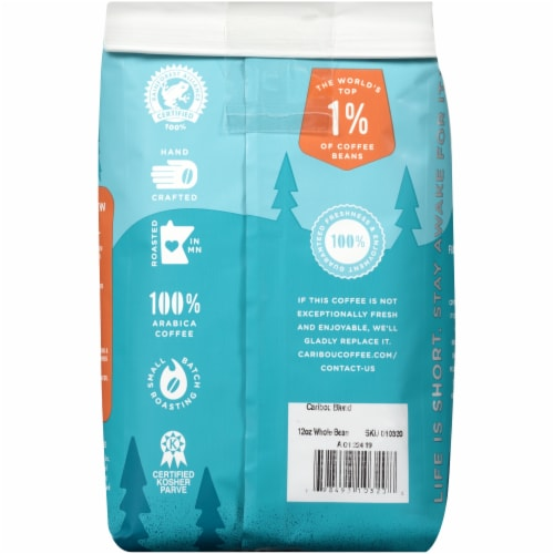 Caribou Coffee Caribou Blend Medium Roast Whole Bean Coffee Perspective: back