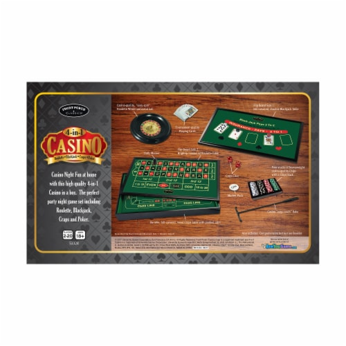 Front Porch Classics 4-in-1 Casino Game Set Perspective: back