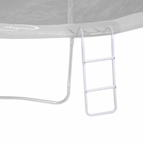 Propel Trampolines 39 Inch Easy Step Trampoline Ladder Accessory for Kids, White Perspective: back