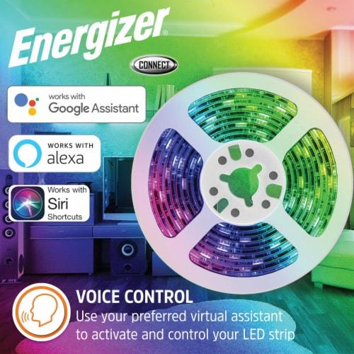Energizer Connect EOS2-1001-WHT Smart Multicolor LED Light Strip, 16.4 Feet Perspective: back