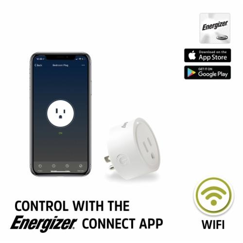 Energizer Connect EIX3-1003-WHT 15-Amp Smart Wi-Fi Plug (Single) Perspective: back