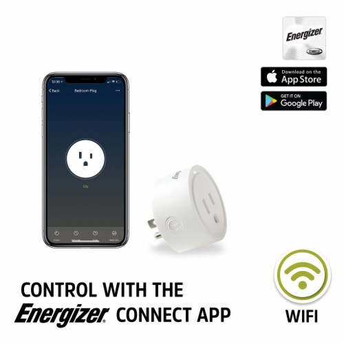 Energizer Connect EIX3-1003-PP2 15-Amp Smart Wi-Fi Plugs (2 Pack) Perspective: back