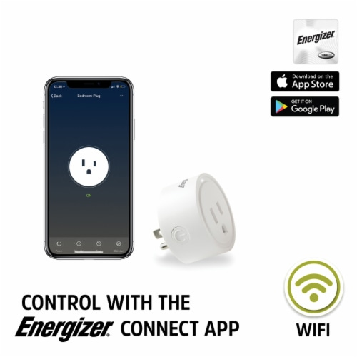 Energizer Connect EIX3-1003-PP4 15-Amp Smart Wi-Fi Plugs (4 Pack) Perspective: back