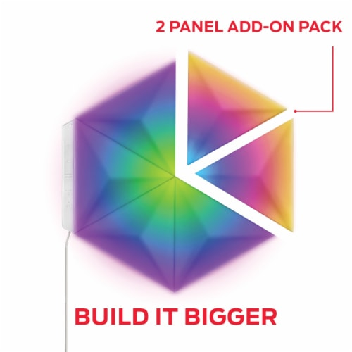 Monster MLB7-1038-RGB Smart Prism Modular 3D LED Art Panels Add-on Pack Perspective: back