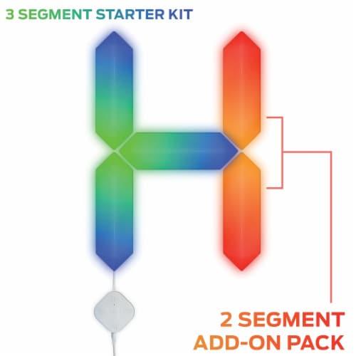 Monster MLB7-1039-RGB Smart Digit Modular 3D LED Art Panels Add-on Pack Perspective: back