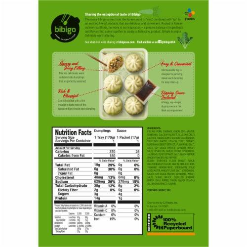 CJ Bibigo Pork & Vegetable Steamed Dumplings Perspective: back