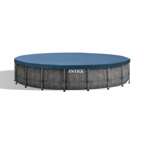 Intex Greywood Prism 18ft x 48in Frame Above Ground Swimming Pool Set with Pump Perspective: back
