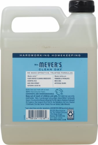 Mrs. Meyer's Clean Day Rain Water Hand Soap Refill Perspective: back