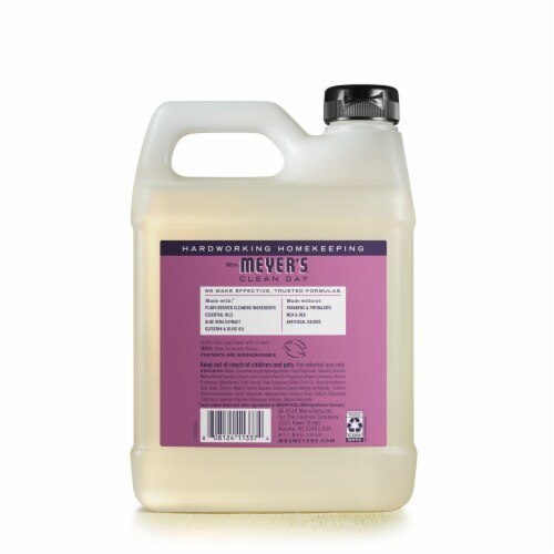 Mrs. Meyer's Clean Day Plum Berry Hand Soap Refill Perspective: back