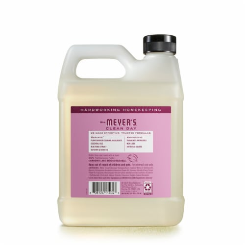 Mrs. Meyer's Clean Day Peony Hand Soap Refill Perspective: back