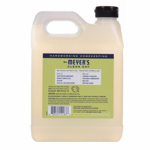 Mrs. Meyer's Clean Day Lemon Verbena Hand Soap Refill Perspective: back