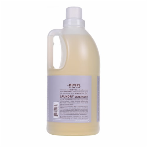Mrs. Meyer's Clean Day Lavender Scent Laundry Detergent Perspective: back