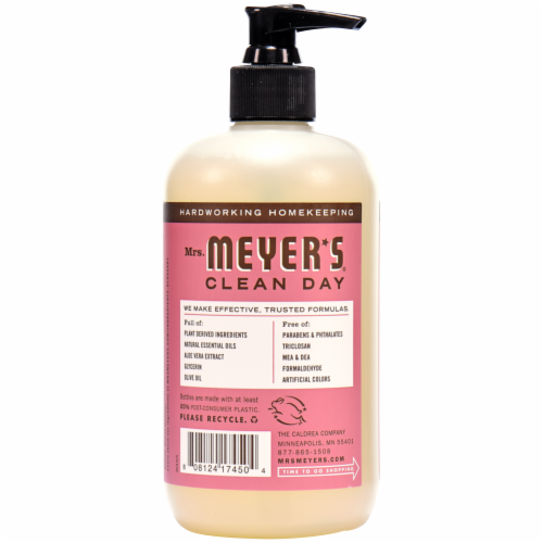 Mrs. Meyers Liquid Hand Soap Rosemary Perspective: back