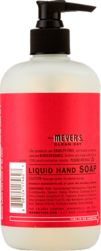 Mrs. Meyer's Clean Day Rhubarb Liquid Hand Soap Perspective: back