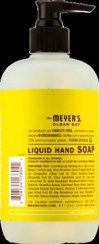 Mrs. Meyers Sunflower Liquid Hand Soap Perspective: back
