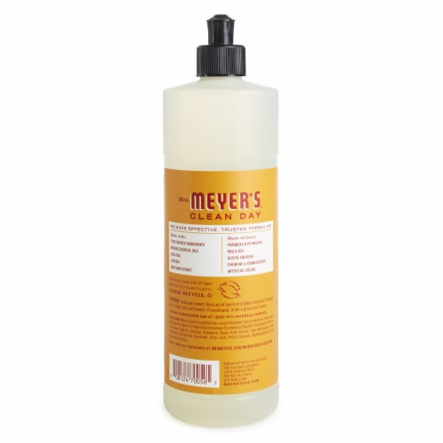Mrs. Meyer's Clean Day Apple Cider Scent Dish Soap Perspective: back