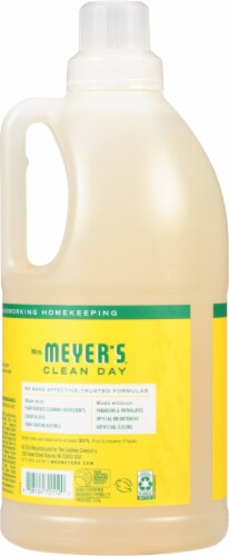 Mrs. Meyer's Clean Day Honeysuckle Laundry Detergent Perspective: back